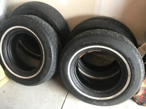 Vintage car tires .. 205 75 14.  Will pass safety. $475