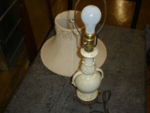 Small porcelain table lamp