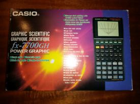 Retro-computing, an immaculate Casio scientific and graph calculator.