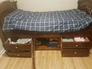 Bed with dresser drawers built-in for 300 OBO