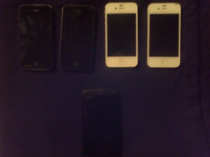 4 Iphone 4 for parts and Blackberry Z10 needs battery