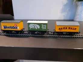 "Three ""00""gauge box vans fom Hornby and Dapol"