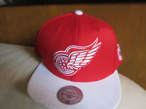 Detroit Red Wings Hockey Team Cap Hat Mitchell and  Ness New