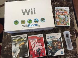 Nintendo wii with some games for sale/trade