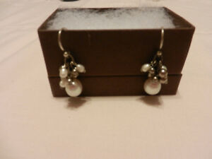 Silpada Pearl Earrings - Never worn - MIB