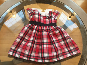 BEAUTIFUL CHRISTMAS PLAID Dress with tulle! LIKE NEW! Carters