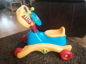 Vtech grow and go ride on bike