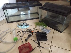 Fish tank and reptile tank and extras
