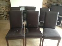 6 Leather Dining Room Chairs
