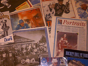 1993 TORONTO MAPLE LEAFS FANS NEWSPAPER SCRAPBOOK COLLECTION WOW Cambridge Kitchener Area image 2