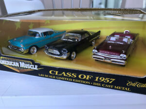 Ertl 1/43 American muscle class of 1957 3 pack die cast models