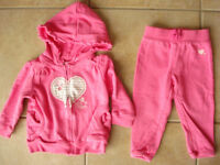 Girls Size 12 Month OshKosh Fleece Outfit
