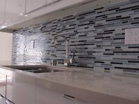 Professional Kitchen+Bathroom Backsplash Tile Wall Install-$199