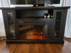 TV stand with Fireplace and Media storage - Kingwood