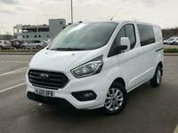 2020 Ford Transit Custom 300 SWB 2.0 Tdci Limited 130PS D/Cab Crew Bus Diesel Ma