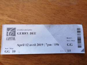 1 Ticket to Gerry Dee @ Capitol Theatre, April 12th.