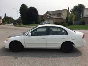 2001 White Honda Civic