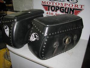 Sacoche rigide Leatherlike Honda VTX 1300 Rigid Saddlebag set