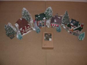 Village de Noël NOMA - 18 maisons de porcelaine  et accessoires