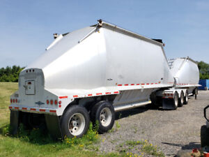2002 Beall Aluminum Belly bottom dump B-Train trailer