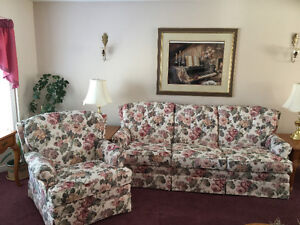 Antique-like sofa and chair
