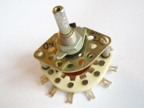 Rotary Switch 3A 350V Ceramic 2P5T 2-pole 5 throw 5-position Silver Contacts