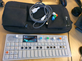 Teenage engineering op-1 synthesizer with official case and accessorie