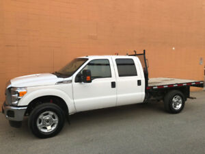 2016 FORD F350 FLATDECK XLT 4x4 *LOW KM*