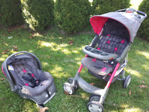 Evenflo comfort fold stroller with car seat