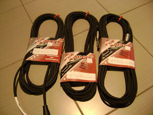 3 Packages of Rapco 25 ft Audio Cable