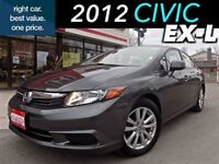 2012 Honda Civic EX-L -- (1) owner with extended warranty.