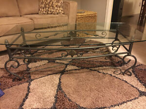 Glass and metal coffee table - perfect condition London Ontario image 2