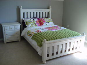 Bed frame & night stand