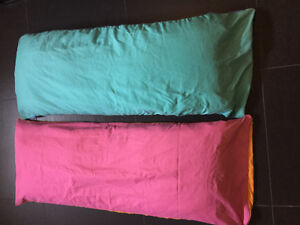 2 body pillows with pillow cases $15 for both