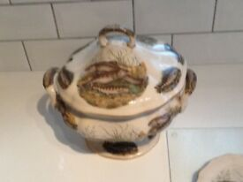 Antique soup tureen set