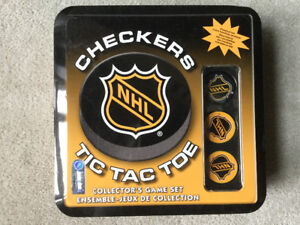 BRAND NEW NHL CHECKERS TIC TAC TOE COLLECTOR'S GAME SET