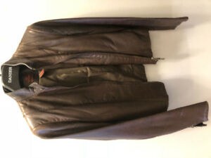 Danier dark brown soft leather women's jacket