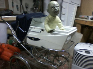 Halloween prop  Zombie baby in Carriage