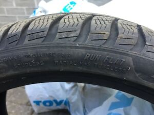 4 Pirelli Sottozero Winter Run Flat Tires 225 40 R18 92 like new