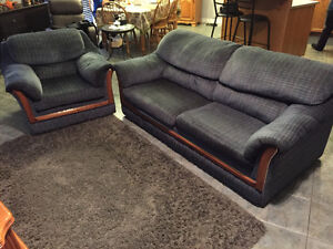 Sofa bed with matching chair