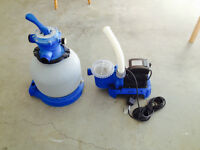 Above Ground Pool Pump and Sand Filter