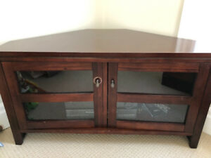 Crate and Barrel Corner TV Cabinet