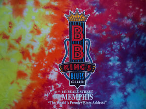 B.B. KING'S BLUE'S CLUB TIE-DYE T-SHIRT.  MEMPHIS.