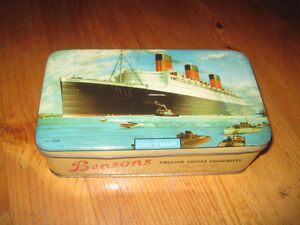Bensons English Toffee Queen Mary Tin