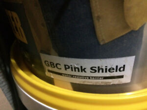 Approx 30 buckets of Pink Shield/Vapour Barrier/ Stucco -NEW