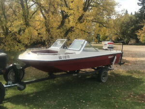 14' Delta Craft Boat with trailer