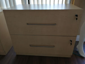 2 Drawers filing cabinet and 3 Drawers filing cabinet