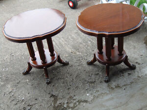 2 tables de salon griffes de lion pattes de lion