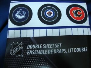 ENSEMBLE DE DRAPS DE HOCKEY LNH NHL LIT DOUBLE FULL