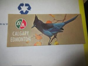 Calgary and Edmonton map by B-A Motor Oil Company